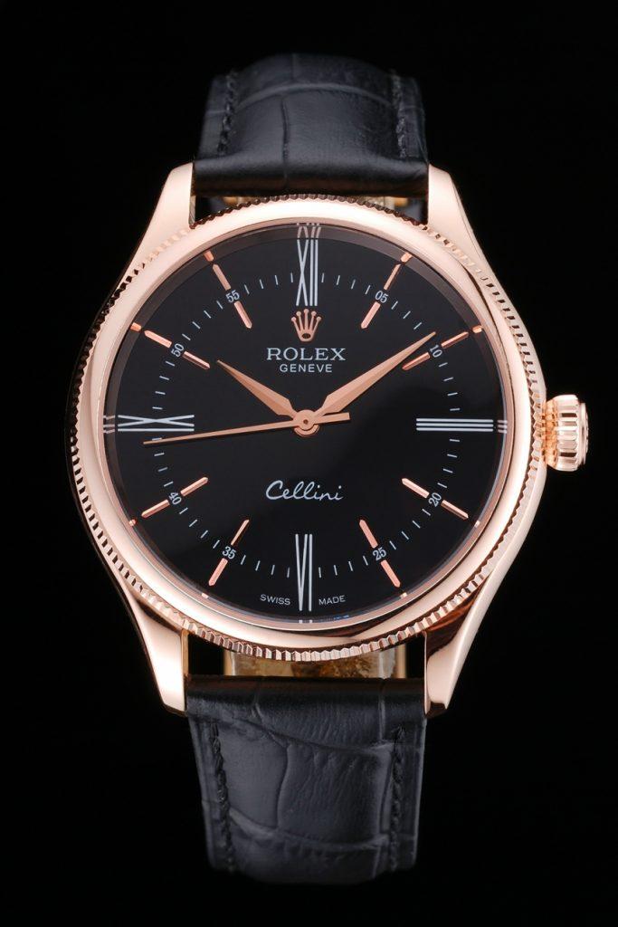 Vista Frontale Dell orologio Replica Rolex Cellini
