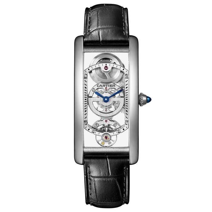 Cartier Tank Cintrée Skeleton in platino