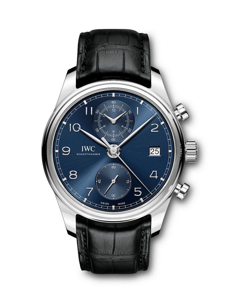 IWC Portugieser Chronograph Classic Quadrante Blu