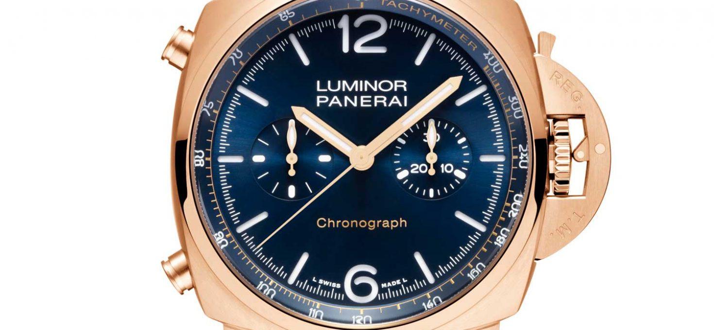 Replica Orologi Panerai Luminor Chrono Goldtech Blu Notte
